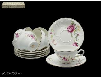 Набор кофейных пар 12 предметов Lenardi Maria Rose 226-089