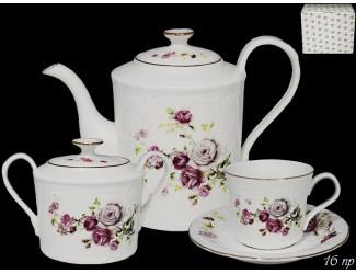 Чайный сервиз на 6 персон 16 предметов Lenardi Maria Rose 226-138