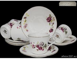 Набор чайных пар 12 предметов Lenardi Maria Rose 226-139