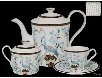 Чайный сервиз на 6 персон 16 предметов Lenardi Райская птица 226-140