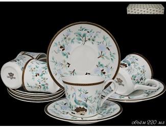 Набор чайных пар 12 предметов Lenardi Райская птица 226-141