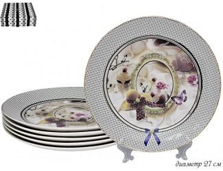 Набор тарелок 6шт 27см Lenardi Paris 304-055