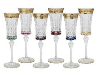 Набор бокалов для шампанского 150мл Same Цветная Флоренция