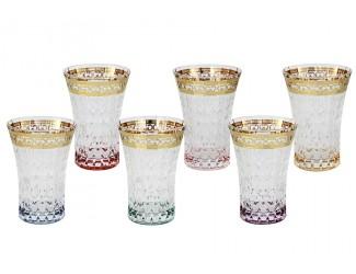 Набор бокалов для воды 6шт 280мл Same Цветная Флоренция