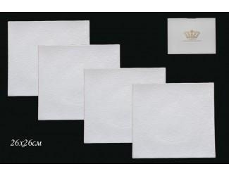 Набор из 4 тарелок 26см Lenardi Белая Роза 555-036