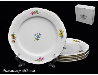 Набор 6 тарелок 20см Lenardi Blumen 555-067