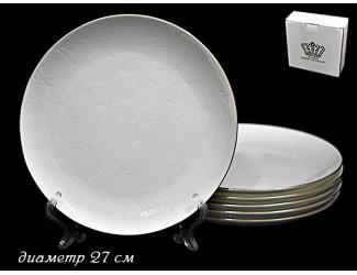 Набор 6 тарелок 27см Lenardi Белая Роза 555-078
