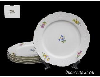 Набор 6 тарелок 21см Lenardi Blumen 555-080