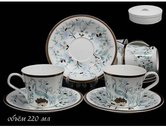 Набор чайных пар 12 предметов Lenardi Райская птица 555-083