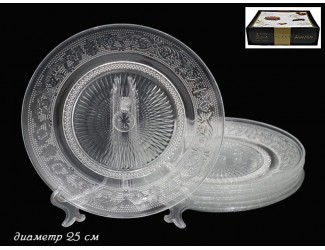 Набор тарелок 6шт 26см Lenardi Atlanta 588-103