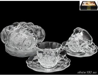 Набор бокалов л=для чая на 6 персон 12 предметов Lenardi Лилия 588-122