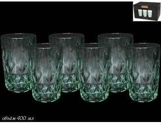 Набор из 6 стаканов для воды Lenardi бирюзовый 588-300