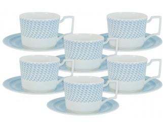 Набор чайных пар на 6 персон 12 250мл предметов Naomi Блюз