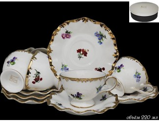 Набор чайных пар на 6 персон 12 предметов Lenardi Эмилия 666-293