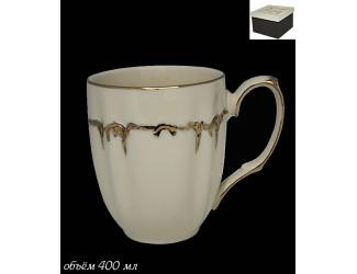 Кружка 400мл Lenardi Амелия слоновая кость 666-347