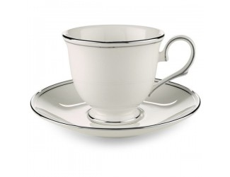 Блюдце для чашки кофейной Noritake Монтвейл платиновый кант 12,5см