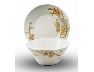 Набор 2 предмета Japonica тарелка+салатник Камелия JDZXMJ-30