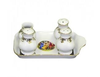 Набор для приправ 5 предметов Leander Мэри-Энн Мадонна кобальт декор 0179 03162513-0179