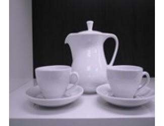 Сервиз кофейный на 6 персон 15 предметов Royal Porcelain Public Белый Жемчуг
