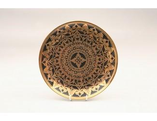 Блюдце Rudolf Kampf Александрия 16,5 см, черный с золотом 02110518-2283