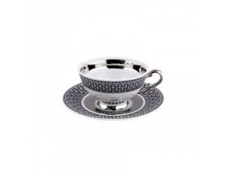 Чайная пара низкая с блюдцем Rudolf Kampf Национальные традиции 0,20л линия сирия декор 2115