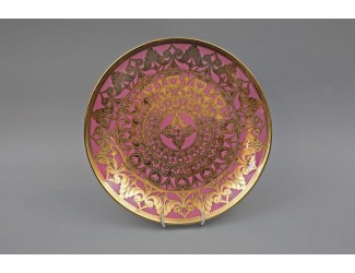 Тарелка мелкая Rudolf Kampf Александрия 30см розовый с золотом 36111333-2281k