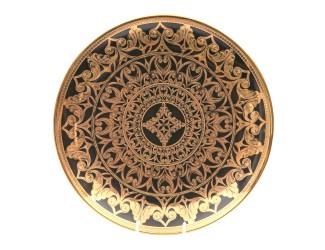 Тарелка мелкая Rudolf Kampf Александрия 30см черный с золотом 36111333-2283k
