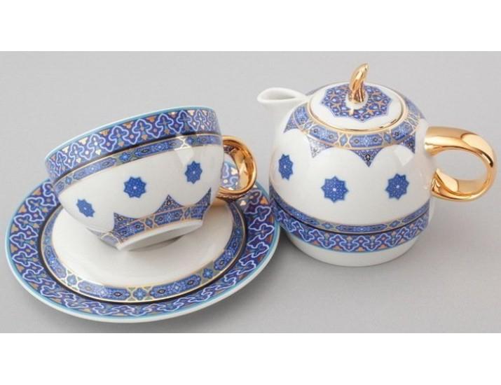Восточный набор Rudolf Kampf  Duo 3 предмета (чайник0,4+чашка0,2) линия Узбекистан 42140825-2085k
