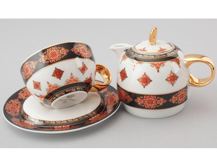 Восточный набор Rudolf Kampf  Duo 3 предмета (чайник0,4+чашка0,2) линия Турция 42140825-2095
