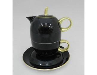 Восточный набор Rudolf Kampf Duo 3 предмета (чайник0,4+чашка0,2), чёрный