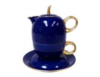 Восточный набор Rudolf Kampf Duo 3 предмета (чайник0,4+чашка0,2), синий