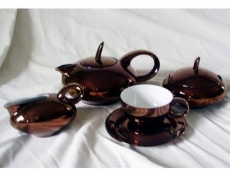 Сервиз чайный Rudolf Kampf Мария Тереза 15 предметов 6 персон бордовый 42160725-2002k