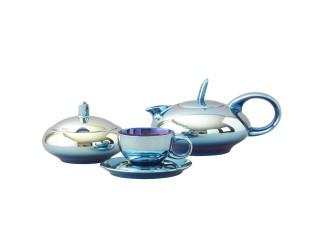 Сервиз чайный Rudolf Kampf Мария Тереза 15 предметов 6 персон титановое покрытие голубой 42160725-2005