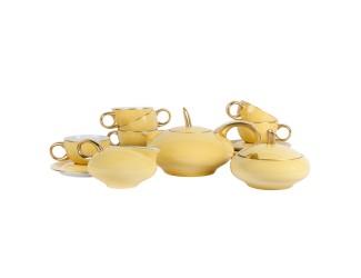 Сервиз чайный Rudolf Kampf Мария Тереза 15 предметов 6 персон жёлтый 42160725-2551