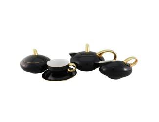 Сервиз чайный Rudolf Kampf Мария Тереза 15 предметов 6 персон чёрный 42160725-2552