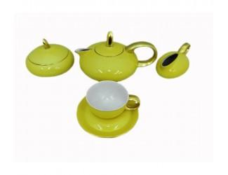 Сервиз чайный Rudolf Kampf Мария Тереза 15 предметов 6 персон салатовый 42160725-2554