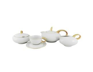 Сервиз чайный Rudolf Kampf Мария Тереза 15 предметов 6 персон белый с золотом 42160725-2566
