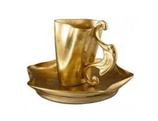 Чайная пара высокая Rudolf Kampf Дали 0,15л матовое золото 46120414-1001