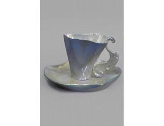 Чайная пара высокая Rudolf Kampf Дали 0,15л, перламутр 46120414-2006