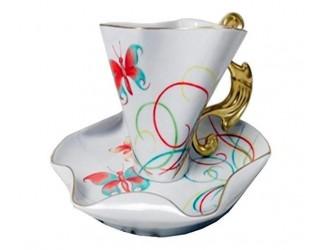 Чайная пара Rudolf Kampf Дали 0,15л, бабочка 46120425-240Fk