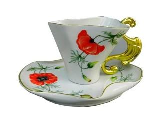 Чайная пара Rudolf Kampf Дали 0,15л, мак 46120425-240Kk