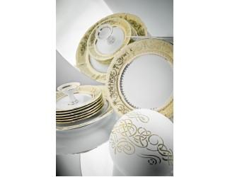 Набор тарелок мелких 25см Rudolf Kampf Национальные традиции 238C, жёлтый 07160115-238C