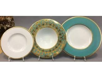 Набор тарелок Rudolf Kampf Кельт 18 предметов, бирюза 52160119-2292