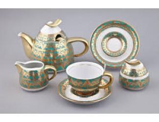 Сервиз чайный Rudolf Kampf Кельт с чайником 0,55л, бирюза 52160724-2292k