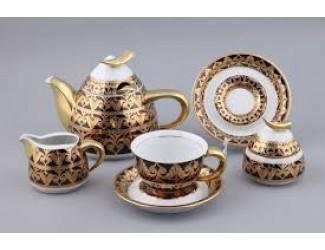 Сервиз чайный Rudolf Kampf Кельт с чайником 0,55л, черный 52160724-2293k