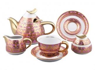 Сервиз чайный Rudolf Kampf Кельт с чайником 1,20л, розовый 52160728-2291k