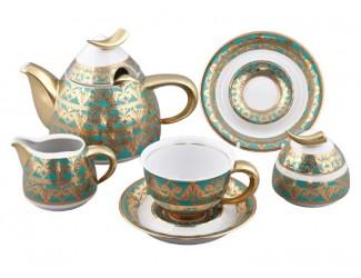 Сервиз чайный Rudolf Kampf Кельт на 6 персон 15 предметов бирюза 52160728-2292k