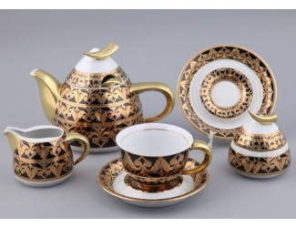 Сервиз чайный Rudolf Kampf Кельт на 6 персон 15 предметов черный 52160728-2293k
