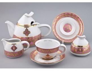 Сервиз чайный Rudolf Kampf Кельт с чайником 1,20л, розовый 52160728-2296k