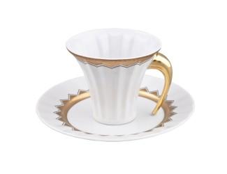 Чайная пара Rudolf Kampf Древний Египет 0,20л, белый с золотом 61120415-2016